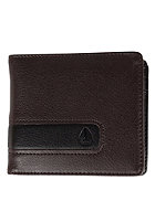 NIXON Showtime Bi-Fold Zip Coin Wallet brown