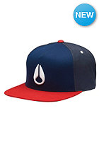 NIXON Simon Snap Back Cap navy/red