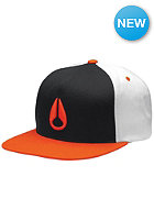 NIXON Simon Snapback Cap black / red pepper / bone