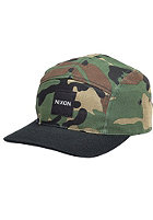 NIXON Snapper 5 Panel Cap woodland camo