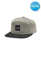 NIXON Snapper Print Snap Back Cap gray / black