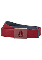 NIXON Spy Belt burgundy / midnight navy