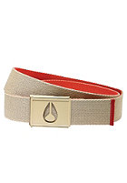 NIXON Spy Belt khaki/red pepper