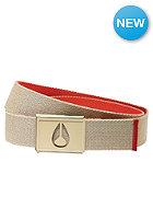 NIXON Spy Belt khaki/red pepper