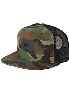 NIXON Ten Trucker Cap woodland camo