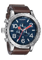 NIXON The 51-30 Chrono Leather navy/brown