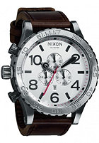 NIXON The 51-30 Chrono Leather silver/brown