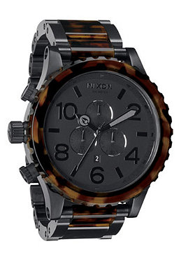 NIXON The 51-30 Chrono matte black/dark tortoise