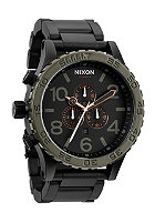 NIXON The 51-30 Chrono matte blk / industrial green