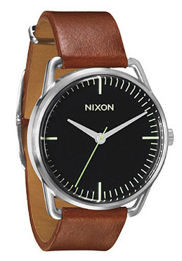 NIXON The Mellor black/saddle