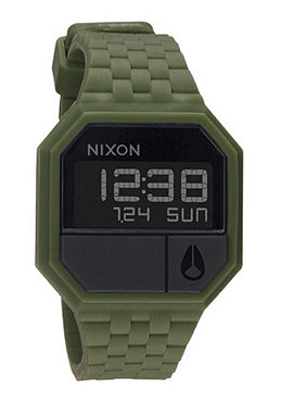 NIXON The Rubber Re Run matte black/surplus