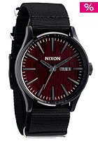 NIXON The Sentry dark wood/black