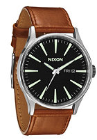 NIXON The Sentry Leather black/saddle