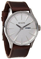 NIXON The Sentry Leather silver/brown
