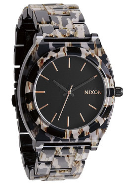 NIXON The Time Teller Acetate leopard