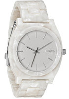 NIXON The Time Teller Acetate white granite