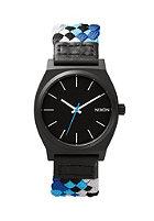 NIXON The Time Teller black / blue woven