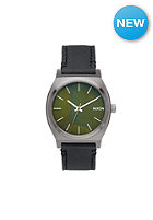 NIXON The Time Teller gunmetal / green oxyde
