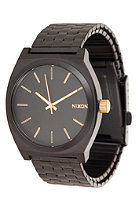NIXON The Time Teller matte black/gold