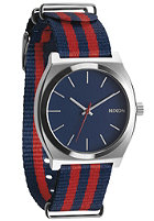 NIXON The Time Teller navy/red nylon