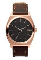 NIXON The Time Teller rose gold / gunmetal / brown