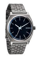 NIXON Time Teller gunmetal / blue crystal
