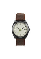 NIXON Time Teller gunmetal/brown