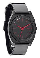 NIXON Time Teller P black/bright pink