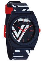 NIXON Time Teller P navy/coral