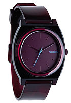 NIXON Time Teller P translucent burgundy