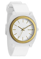 NIXON Time Teller P white/gold ano