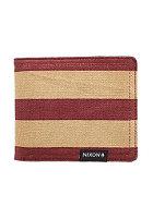 NIXON Tree Hugger Bi-Fold Wallet oxblood/khaki