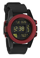 NIXON Unit dark red/black