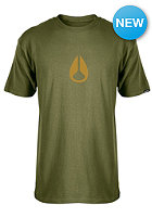 NIXON Wings S/S T-Shirt military green/gold