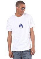 NIXON Wings S/S T-Shirt white/royal