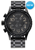 NIXON Womens 38-20 Chrono all black crystal