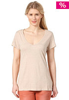 NIXON Womens Everday Scoop S/S T-Shirt heather tan