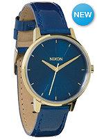 NIXON Womens Kensington blue/champagne/gold patent