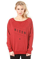 NIXON Womens Series Crew Sweat dark red heathe