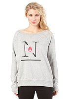NIXON Womens Series Crew Sweat heather gray