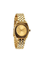 NIXON Womens Small Time Teller all gold crystal