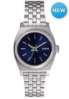 NIXON Womens Small Time Teller all silver / cobalt