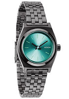 NIXON Womens Small Time Teller gunmetal/light blue