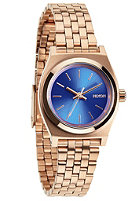 NIXON Womens Small Time Teller rose gold/cobalt