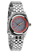 NIXON Womens Small Time Teller silver/neon pink