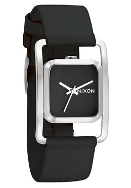 NIXON Womens The Dynasty Leather black