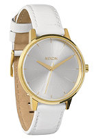 NIXON Womens The Kensington Leather all wht/gld pat