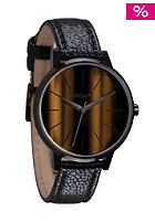 NIXON Womens The Kensington Leather tigerseye