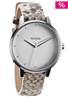 NIXON Womens The Kensington Leather white/snake
