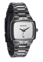 NIXON Womens The Small Player gunmetal/white